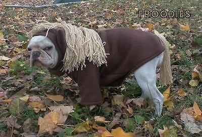 Pony Hund Kostüm (French Bulldog Boston Terrier Pug Dog Froodies Hoodies Coat Costume Pony Horse)