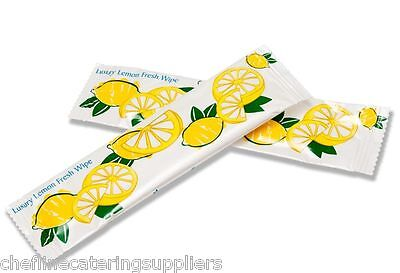 100x Lemon Fresh Hand Wet Wipe, Hot or Cold, Microwaveable Napkins, Restaurant