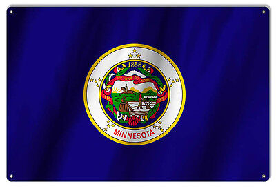 Minnesota State Flag Sign 12X18