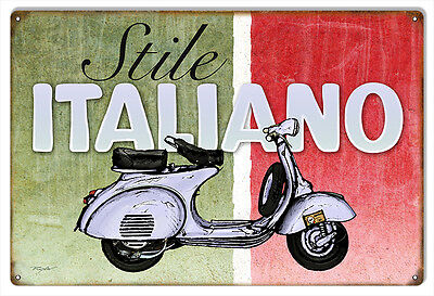"""Reproduction Italiano Motor Bicycle Sign 12""""x18"""""""