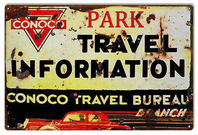 Reproduction Conoco Travel Bureau Sign