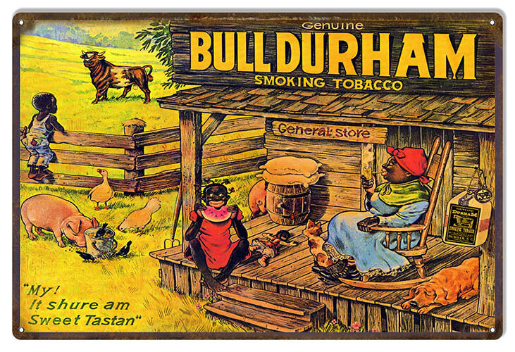 Nostalgic Bull Durham General Store Cigar Sign 12X18