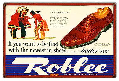 Nostalgic Roblee Shoes For Men Sign 12X18