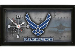 United States Air Force Framed License Plate Quarts Clock  New