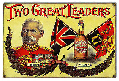 Nostalgic Two Great Leaders Horehound Beer Sign