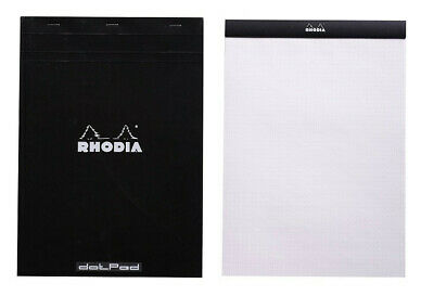 Rhodia No. 18 Notepad - Black Dot Grid - 8x11 New