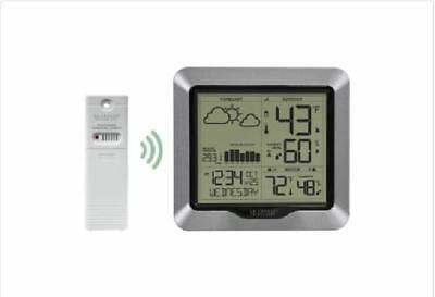 La Crosse Wireless Remote Indoor Outdoor Atomic Clock Thermometer Barometer
