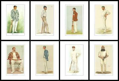 CRICKET  -  SET  OF  8  VANITY  FAIR  GREAT  CRICKETERS  -  (REPRODUCTIONS)