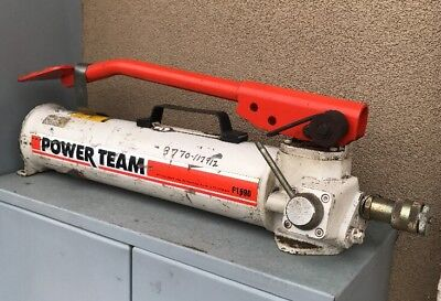 Spx Power Team P-159d 2 Speed Hydraulic Pump Double Acting 10k Psi