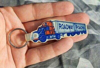 Rare Vtg Roadway Rubber Keychain - 1985 AGO Picnic - Semi Truck PreCaliber FedEx