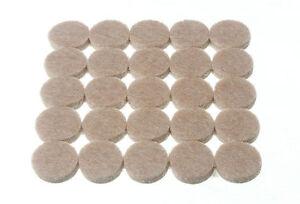 NUEVO-Redondo-Discos-De-Fieltro-Autoadhesivo-25-POR-TIRA-16mm-diametro-4mm