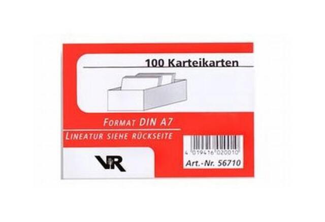 Viktor Richter Karteikarten A7, kariert, 190 g, weiß