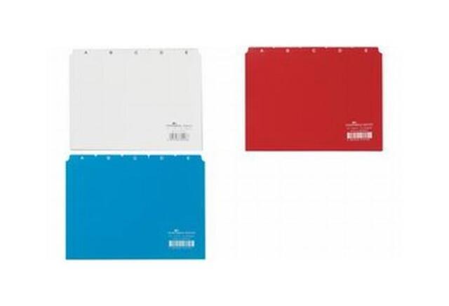 DURABLE Leitregister A - Z,PP,A5 quer,blau,25-teilig