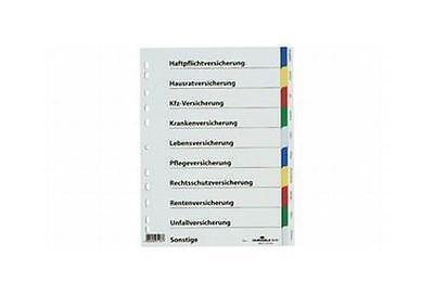 DURABLE Kunststoff-Register, für Versicherungen, A4, PP
