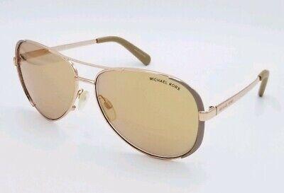 Michael Kors MK5004 Chelsea 1017R1 Aviator Rose Gold 59×13-135 Sunglasses #2238