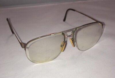 Rodenstock Semi Rimless Gold Aviator Designer Eyeglasses Frames 54[] 12 (Designer Semi Rimless Frames)
