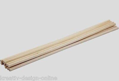 10 Holzstab Holzstäbe 30cm lang 6mm Durchmesser