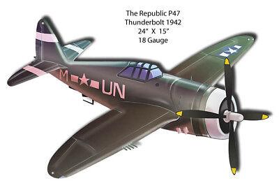 Republic P47 Thunderbolt 1942 Laser Cut Out 15x24