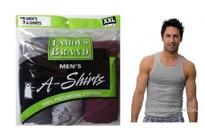 Mens Cotton Color A-Shirts Hanes, Fruit of The Loom, Joe Box