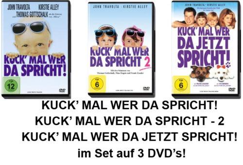 3 DVDs * KUCK' MAL WER DA SPRICHT ~ TEIL 1 - 3 IM SET # NEU OVP <