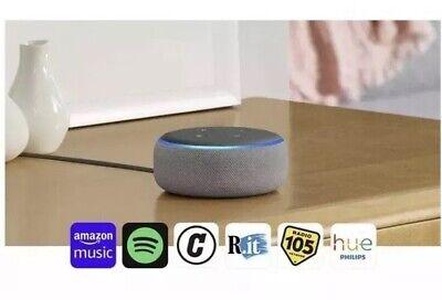 Amazon Echo Dot 3ª Generazione Altoparlante Intelligente con Alexa Grigio NUOVO
