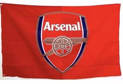 Arsenal Flag Banner 3x5 ft Soccer New Futbol Club Red With Metal - Soccer Banners