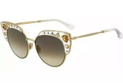 Jimmy Choo AUDREY/S Crystal Gold Brown Shaded REJ/FQ Women Sunglasses Jewels (Jimmy Choo Crystal Sunglasses)