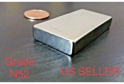 Neodymium N52 Block Magnet Super Strong Rare Earth 2 X 1