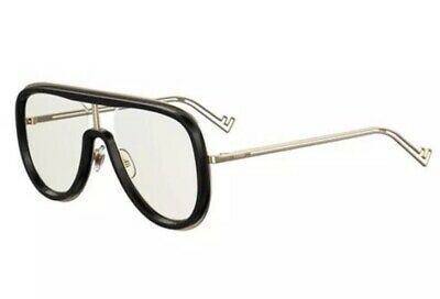 Fendi Futuristic Sunglasses FF M0068 807 Black Gold Clear AR Lens Men Authentic