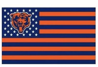 Chicago Bears 3x5 Flag (Chicago Bears 3x5 Ft American Flag Football New In)