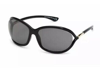 Tom Ford Sunglasses FT TF 0008 01D Jennifer Black Gold Grey Polarized Women (Jennifer Tom Ford)