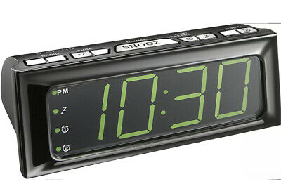Insignia Digital AM/FM Alarm Clock Radio Black With Large Led Display