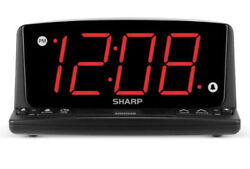 SHARP LED Alarm Clock with Nightlight and Jumbo Red Display Model no. SPC1225