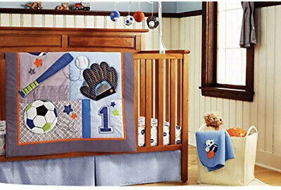 Baby Boy Sport Crib Bedding Set 11 Pieces Baby Shower Gift 🎁 New