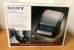 Sony Dream Machine ICF-CD7000 AM/FM CD Clock Radio Dual Alarm Blue LED Lights