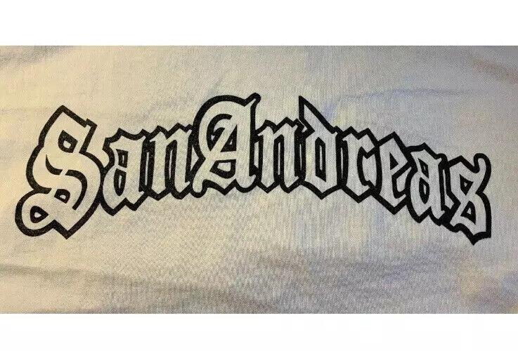 Vintage San Andreas Grand Theft Auto GTA Video Game Promo T-Shirt Brand New Sz L