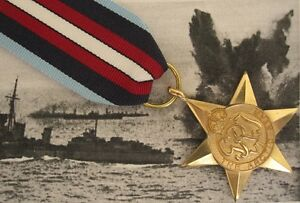 WW2 British ARCTIC STAR Medal - Full Size British Made - Arctic Convoy Award