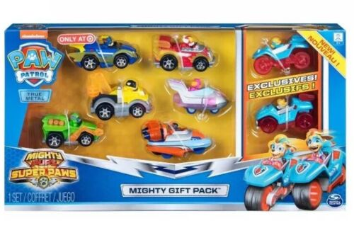 ✨ PAW PATROL Mighty Pups SUPER PAWS 8 Piece GIFT PACK Set
