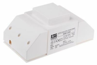 Block 200va Isolating Transformer 230v Ac Primary 2 X 12v Ac Secondary