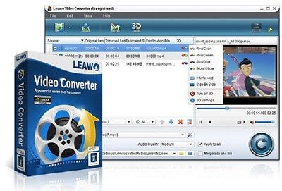 Leawo Video Converter Software HD {Lifetime} AVI,MPEG,WMV,MP4,FLV,MOV A++