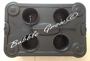 Bubble Grow 4X Drip Hydroponic System Top Feed Bubbleponic DWC NTF Growing Kit