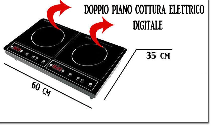 PIASTRA INDUZIONE HOMETRONICS Doppio Piano 2 Zone Piano Cottura ...