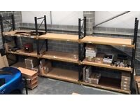 Used Heavy Duty Warehouse Pallet Racking Job Lot 3 Bays GOOD CONDITION