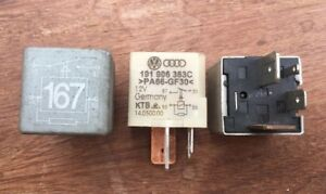 VW AUDI SEAT SKODA Fuel Pump Relay No 167 4-pin 191906383C