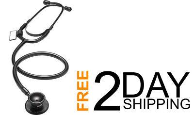 Medical Mdf Dual Head Lightweight Stethoscope Lifetime Warranty Black
