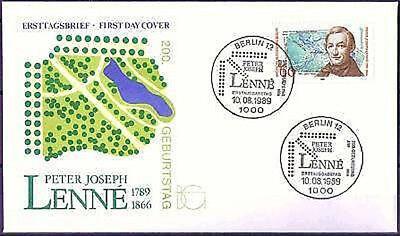 Berlin 1989: Peter Joseph Lenné 200. Geburtstag! FDC der Nr. 850! 1710