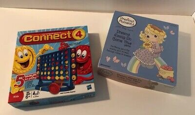 """Kids Game Bundle """"Precious Moments"""" and """"Connect Four"""" Both 100% Complete!"""