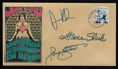 1967 Jefferson Airplane Monterey Festival Featured on Collector Envelope OP1262