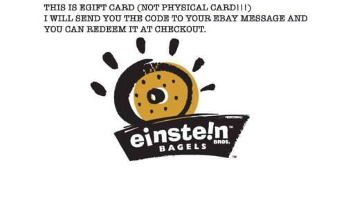 $25 Einstein Bros. Bagels/ Caribou Coffee Gift Card (READ THE DESCIN THE PICS)