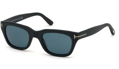 TOM FORD SNOWDON James Bond 007 'SPECTRE' Mens Sunglasses BLACK BLUE 0237 05V 52